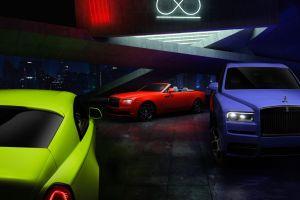 Rolls-Royce pinta de neón tres de sus modelos y asegura que se inspiró en la naturaleza, el resultado es increíble