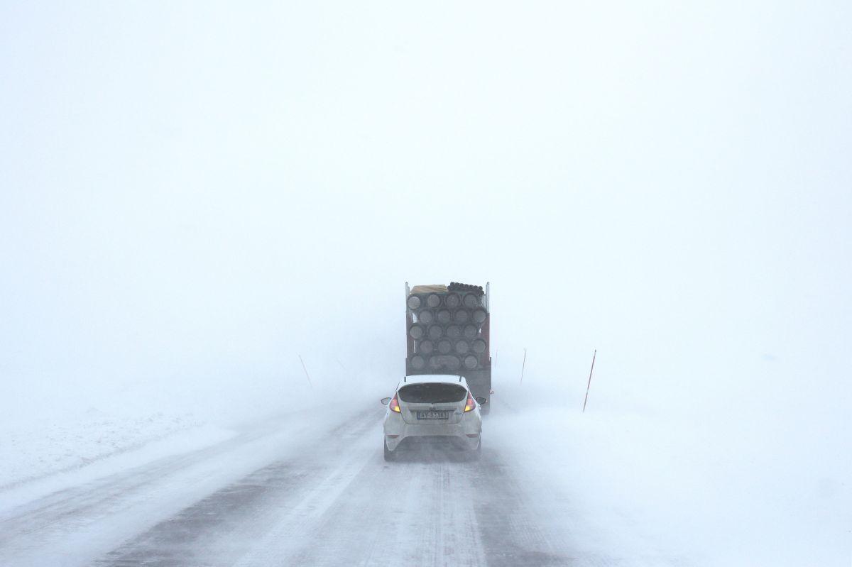 La lluvia puede traer nieve, niebla, granizo y fuertes vientos