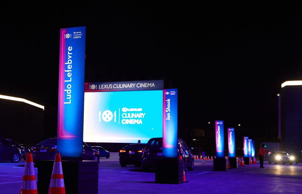 Lexus eleva el nivel de autocinema con Lexus Culinary Cinema, un evento de cine gourmet en Los Ángeles