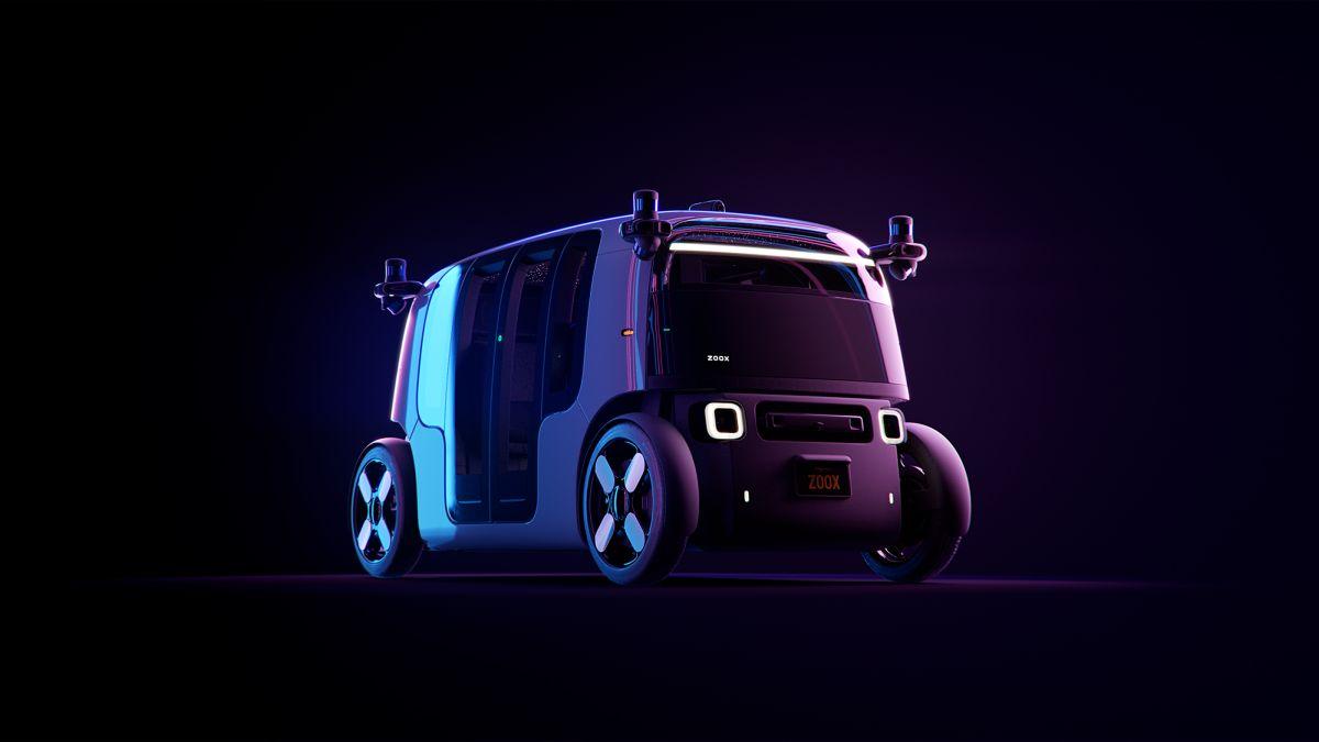 Cómo es el taxi eléctrico y autónomo que presentó Zoox, de Amazon