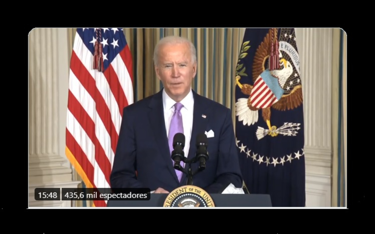 El presidente Biden quiere reemplazar por autos eléctricos toda la flota de autos oficiales