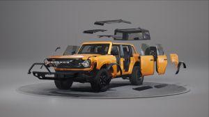 El diseño modular de la Ford Bronco permite personalizar tu SUV fácilmente