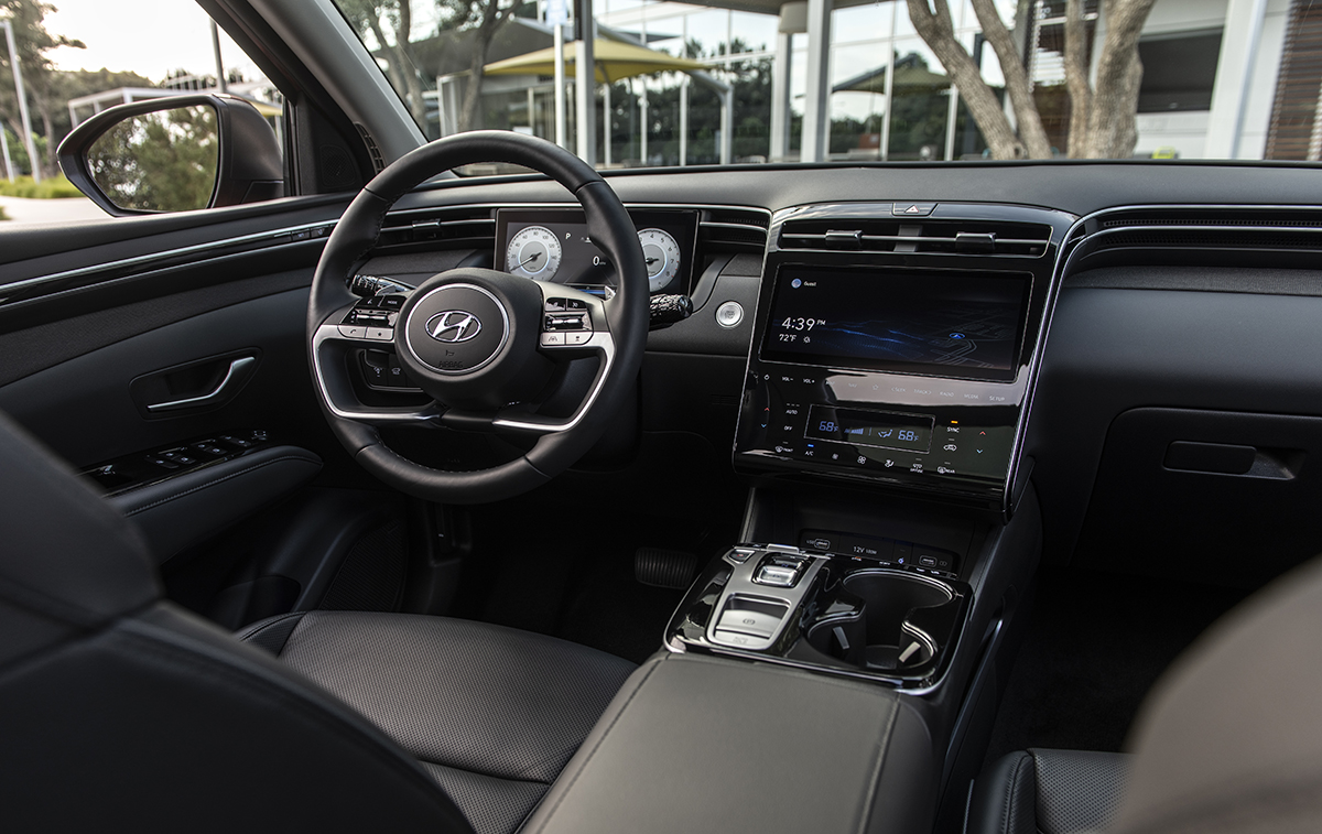 Habitáculo interior del Hyundai Tucson 2022.