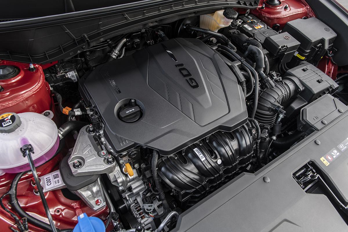Motor de gasolina 2.5 litros del Hyundai Tucson 2022.