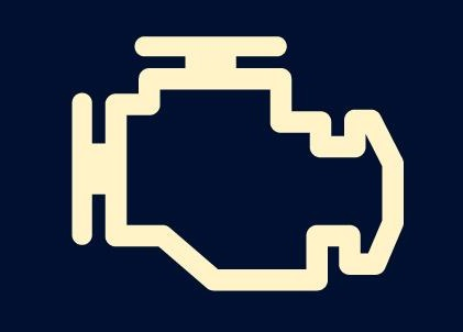 Imagen relativa a la luz que indica chequeo de motor en el auto