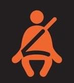 Imagen relativa a la luz que indica usar cinturón de seguridad en el tablero del auto