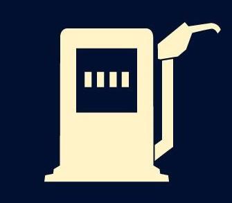 Imagen relativa a la luz que indica falta de combustible en el tablero del auto