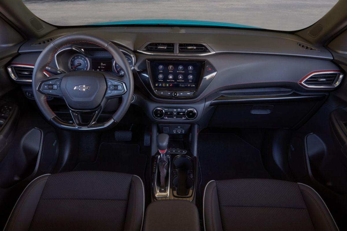 Interior del 2021 Chevrolet Trailblazer RS.