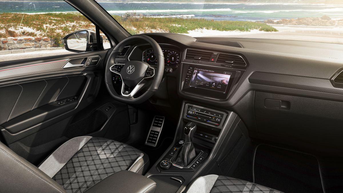 Foto de la parte trasera de la cabina interior del nuevo Tiguan Allspace de Volkswagen