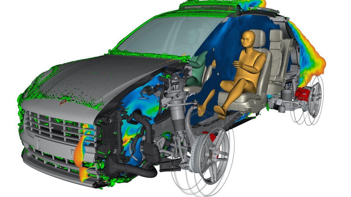 Imagen virtual de uno de los prototipos del próximo Porsche Macan completamente eléctrico