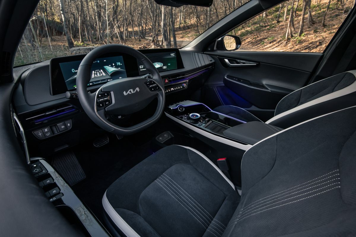 Foto interior del Kia EV6 2022