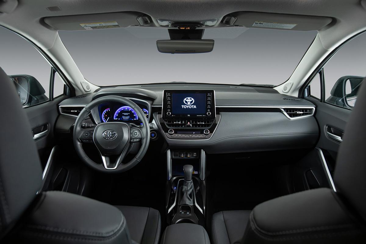 Interior del 2022 Toyota Corolla Cross.