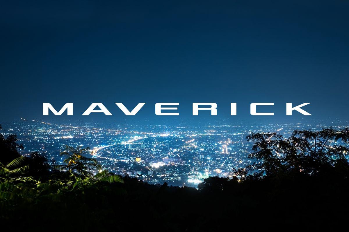 Imagen promocional de la nueva camioneta Maverick de Ford