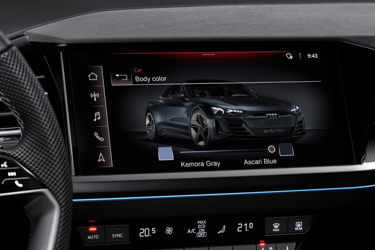 El sistema de cambio de color de Audi aún no se encuentra disponible para el mercado.