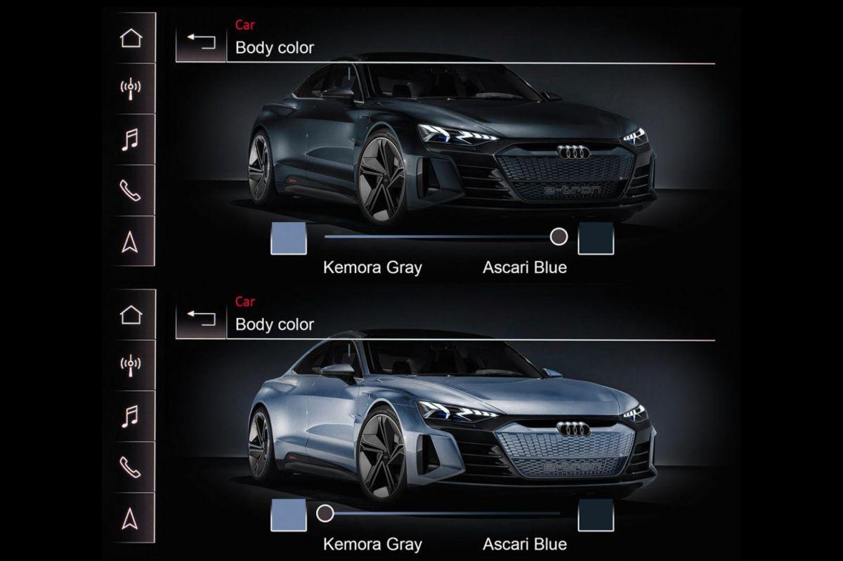 Sistema de cambio de color de Audi