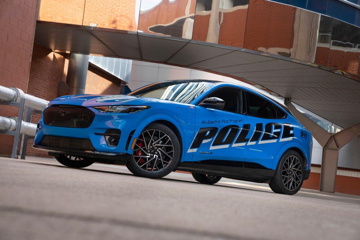 Mustang Mach-E piloto de policía. / Foto: Cortesía Ford.